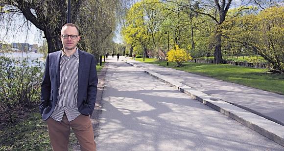 Rauno Hietanen Töölönlahdella